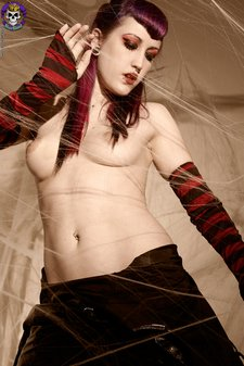 Beautiful Naked Goth Girl Playing in Spiderwebsgothicsluts01